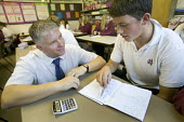 A pupil and their headmaster from Wyvern community school, Weston Super Mare. - Paul Box - 07-09-2007