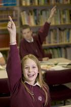 Pupils at Wyvern community school, Weston Super Mare. - Paul Box - 2000s,2007,adolescence,adolescent,adolescents,boy,boys,child,CHILDHOOD,children,class,classroom,classrooms,college,colleges,communicating,communication,communities,Community,Comprehensive School,Compr