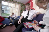 A community project to reduce crime in a urban area, located at an after-school club in the Winchestown Family Centre. Police officers in the centre engage with young people from the local area. - Paul Box - 05-04-2006