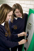 A new vending machine system that by allowing pupils to put money onto a key, this stops them from carrying cash around school. It also stocks healthy food and keeps a record of the time and what purc... - Paul Box - 03-06-2006