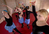 Pupils dancing in the after school club at Cantonian High School, Cardiff. - Paul Box - 03-06-2006