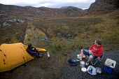 Camping after mountain biking in Arkle, Cape Wrath, Scotland. - Paul Box - 2000s,2005,appliance,appliances,beverages,bicycle,bicycles,BICYCLING,Bicyclist,Bicyclists,bike,bikes,biking,Biking Trail,box,boxes,camp,Camper,Campers,camping,camps,campsite,campsites,cape,cook,COOKER