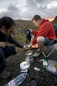 Camping after mountain biking in Arkle, Cape Wrath, Scotland. - Paul Box - 2000s,2005,appliance,appliances,beverages,bicycle,bicycles,BICYCLING,Bicyclist,Bicyclists,bike,bikes,biking,Biking Trail,bottle,bottles,box,boxes,camera,cameras,camp,Camper,Campers,camping,camps,camps