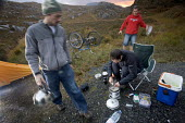 Camping after mountain biking in Arkle, Cape Wrath, Scotland. - Paul Box - 2000s,2005,appliance,appliances,beverages,bicycle,bicycles,BICYCLING,Bicyclist,Bicyclists,bike,bikes,biking,Biking Trail,bottle,bottles,box,boxes,camp,Camper,Campers,camping,camps,campsite,campsites,c