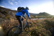 Mountain biking in Arkle, Cape Wrath, Scotland. - Paul Box - 08-11-2005