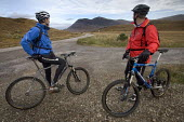 Mountain biking in Arkle, Cape Wrath, Scotland. - Paul Box - 2000s,2005,backpack,backpacks,bag,bags,bicycle,bicycles,BICYCLING,Bicyclist,Bicyclists,bike,bikes,biking,Biking Trail,cape,cloudy,country,countryside,cycle,cycles,cycling,cyclist,cyclists,Heath,Heaths