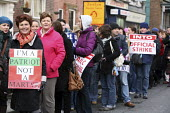Thousands of teachers picket the Department of Education, Marlborough Street, Dublin, as part of the National public sector Strike in protest of government plans for more cuts to public sector pay. 24... - Paula Geraghty - 24-11-2009