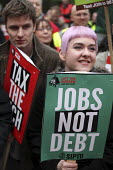 ICTU Jobs Not Debt protest, Dublin, Ireland - Paula Geraghty - , Protest,2010s,2013,activist,activists,against,Austerity Cuts,CAMPAIGN,campaigner,campaigners,CAMPAIGNING,CAMPAIGNS,debt,debts,DEMONSTRATING,demonstration,DEMONSTRATIONS,eu,Europe,european,europeans,