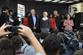 Jeremy Corbyn MP speaking, Refugees Welcome rally shortly after being elected leader of the Labour Party, Parliament Square, London - Peter Arkell - 13-09-2015