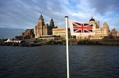 The landmark Liver Building on the Liverpool waterfront seen from the deck of a Mersey ferry - Philip Wolmuth - 27-10-2000