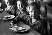 Breakfast club at Hunderton Infants School, Hereford, funded through the Education Action Zone programme. - Philip Wolmuth - 13-07-1999