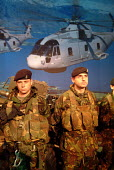 British soldiers on the Ministry of Defence stand at the Defence Systems and Equipment International Exhibition, EXCel, Docklands, London 9/9/03. - Philip Wolmuth - 09-09-2003