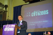 Dave Prentis, UNISON Gen. Sec, on the platform of the London Citizens Mayoral Accountability Assembly in Central Hall, Westminster. - Philip Wolmuth - 04-05-2004