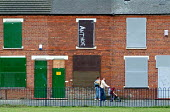 Boarded up vandalised and empty terraced houses in South Bank, Middlesbrough - Philip Wolmuth - 28-09-2004