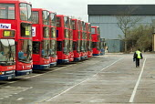 Stagecoach bus depot in Stratford, on the proposed site of the Olympic Village which will be built if the bid for the 2012 Games is successful. - Philip Wolmuth - 10-02-2005