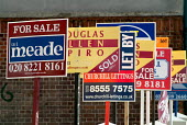 Estate agents boards in Stratford, East London. - Philip Wolmuth - 19-02-2005