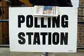 Polling station in Camden, North London, on the day of the 2005 General Election. - Philip Wolmuth - 05-05-2005
