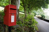 Royal Mail postbox on a remote country road in the Croesor Valley in Snowdonia, North Wales. - Philip Wolmuth - 2000s,2005,box,boxes,communicating,communication,country,countryside,EBF Economy,highway,letter,Letter box,Letter boxes,Letterbox,Letterboxes,letters,Mail,outdoors,outside,pillar box,post,Postal Servi