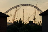 The steel arch of the partially completed roof of the new Wembley National Stadium in North London. - Philip Wolmuth - 03-06-2005