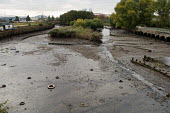 Discarded tyres lie on mudflats in the tidal River in the Lower Lea Valley, site of the 2012 Olympic Games. - Philip Wolmuth - 26-10-2005