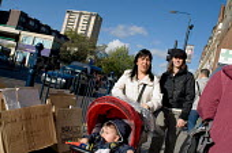 Shoppers on Kilburn High Road, London. - Philip Wolmuth - 07-11-2005