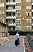St.Pancras Way Estate, Camden, London - Philip Wolmuth - 2000s,2005,Asian,BAME,BAMEs,black,bme,bmes,cities,city,council,Council Services,Council Services,diversity,EBF Economy,estate,ESTATES,ethnic,ETHNICITY,FEMALE,flat,flats,government,headscarf,High Rise,