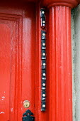 Doorbells on a house in multiple occupation in Camden Town, London - Philip Wolmuth - 23-01-2006