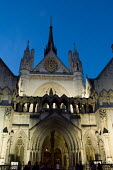 The Victorian Gothic frontage of the Royal Courts of Justice in the Strand, London - Philip Wolmuth - 2000s,2006,ACE,Appeal,architecture,building,buildings,cities,city,CLJ crime law & justice,court,courts,Criminal Justice System,culture,Gothic,High,justice,law,London,of,urban,Victorian