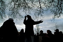 An Islamic preacher at Speakers' Corner in Hyde Park, London. - Philip Wolmuth - 26-02-2006