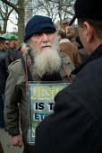 A Christian evangelist with a placard at Speakers' Corner in Hyde Park, London. - Philip Wolmuth - 26-02-2006