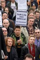 March for Free Expression, Trafalgar Square, London - Philip Wolmuth - 25-03-2006