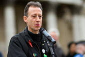 Peter Tatchell addresses the March for Free Expression in Trafalgar Square, London - Philip Wolmuth - 25-03-2006