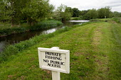 Stretch of river with private fishing rights and no public access on the Duke of Wellington estate in North Hampshire - Philip Wolmuth - 28-05-2006