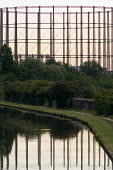 Gasometer reflected in the Grand Union canal, West London - Philip Wolmuth - 25-08-2006