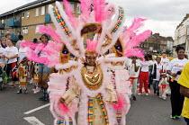 Flamboyan mas band parade during childrens day at Notting Hill Carnival - Philip Wolmuth - 27-08-2006