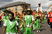 Carnival group from the Yaa Asantewaa Arts Centre on childrens day at Notting Hill Carnival - Philip Wolmuth - 27-08-2006