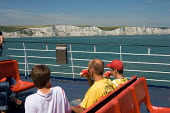 A P&O Dover to Calais ferry passes the white cliffs of Dover. - Philip Wolmuth - 12-07-2006