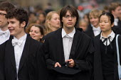 First year students at Oxford arrive at the Sheldonian Theatre for matriculation, the ceremony which marks their formal induction into the university. - Philip Wolmuth - 14-10-2006