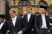 First year students at Oxford arrive at the Sheldonian Theatre for matriculation, the ceremony which marks their formal induction into the university. - Philip Wolmuth - mortarboard,2000s,2006,ceremonies,ceremony,EDU Education,elite,elitism,EQUALITY,freshers,Higher Education,INEQUALITY,male,man,men,mortar board,mortar boards,mortarboard,mortarboards,Oxbridge,Oxford,pe