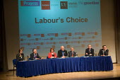 Harriet Harman, Peter Hain, Hazel Blears, Michael White (Chair), Alan Johnson, Hilary Benn and John Cruddas at a Fabian Society hustings meeting for candidates for the deputy leadership of the Labour... - Philip Wolmuth - 16-05-2007