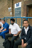 Members of the POA at HMP Wormwood Scrubs on 24 hour strike over pay and conditions. - Philip Wolmuth - 2000s,2007,asian,ASIANS,BAME,BAMEs,black,BME,BME Black minority ethnic,bmes,DISPUTE,DISPUTES,diversity,ethnic,ethnicity,INDUSTRIAL DISPUTE,London,male,man,member,member members,members,men,metropolita