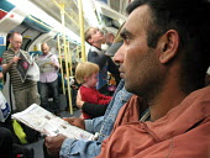 Passengers on the London underground. - Philip Wolmuth - 11-08-2007