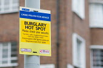Metropolitan Police crime prevention notice, London. - Philip Wolmuth - 28-12-2007