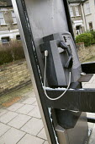 Vandalised British Telecom phone box, West Hampstead, London. - Philip Wolmuth - ,2000s,2007,anti social behavior,anti social behaviour,anti socialanti social behavior,antisocial,anti-social,antisocial behaviour,antisocialvandalise,antisocialvandalize,behavior,behaviour,Borough,bo