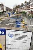 Thames Water improvement works to the London sewerage system, closed road, West Hampstead. - Philip Wolmuth - 31-12-2007
