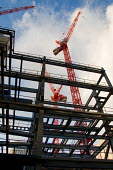 Steelwork and cranes on the site of a new office development by British Land PLC in the City of London. - Philip Wolmuth - 14-01-2008