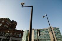 Surveillance camera on a high pole close the Paddington Central office, London - Philip Wolmuth - 07-03-2008