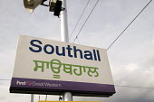 English and Punjabi sign at Southall train station, in West London. The area has a large Sikh population. - Philip Wolmuth - ,2000s,2008,Asian,asians,BAME,BAMEs,BLACK,bme,BME Black minority ethnic,bmes,cities,city,communicating,communication,diversity,EBF economy,ethnic,ETHNICITY,language,languages,minorities,minority,multi