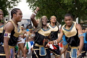 A band of teenagers in Egyptian costumes on Children's Day at Notting Hill Carnival - Philip Wolmuth - 24-08-2008