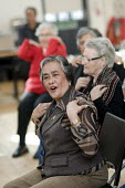 Chair based exercise session at the weekly over-50s group at Greenside Community Centre, Lisson Green. London - Philip Wolmuth - 11-03-2008